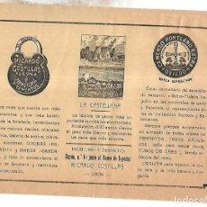 Coleccionismo de carteles: CARTEL PUBLICITARIO. LEON. RICARDO COSTILLAS. CEMENTO PORTLAND. 25 X 18CM. PRINCIPIOS SIGLO XX. Lote 176736352