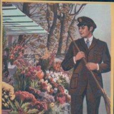 Coleccionismo de carteles: TARJETA / HOJITA DE FELICITACIÓN NAVIDEÑA - EL BARRENDERO FELICES NAVIDADES Y AÑO NUEVO - AÑO 1972. Lote 176802734