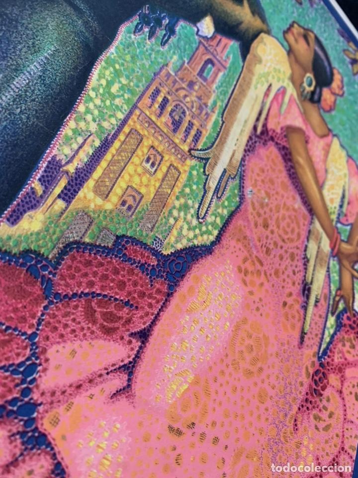 Coleccionismo de carteles: Cartel litografía original Sevilla fiestas de primavera semana Santa y Feria de 1928 - Foto 2 - 178058557