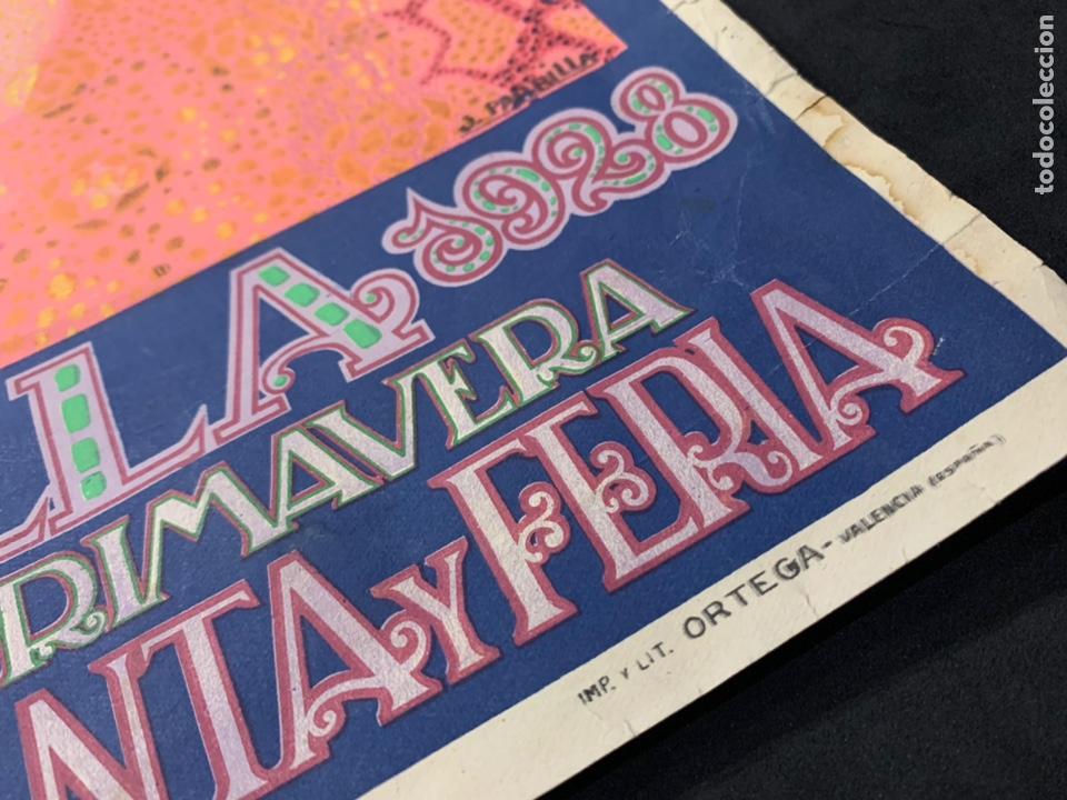 Coleccionismo de carteles: Cartel litografía original Sevilla fiestas de primavera semana Santa y Feria de 1928 - Foto 4 - 178058557