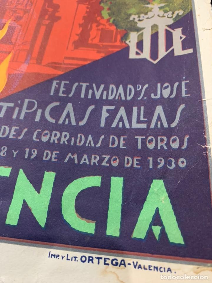 Coleccionismo de carteles: Cartel litografía Fallas de Valencia 1930 original - Foto 2 - 178060758