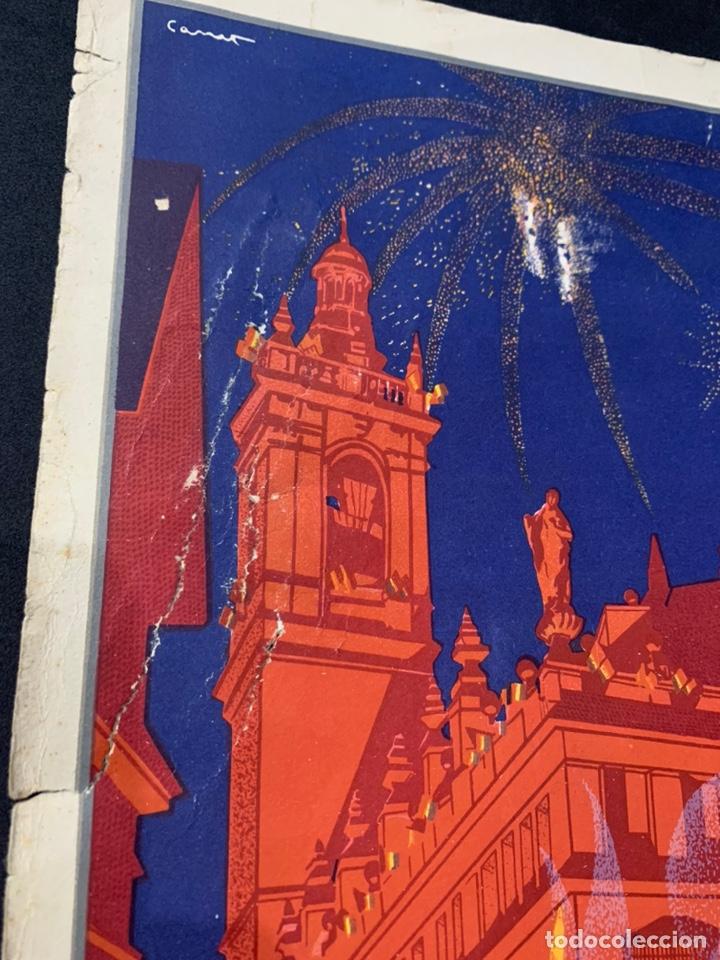 Coleccionismo de carteles: Cartel litografía Fallas de Valencia 1930 original - Foto 4 - 178060758