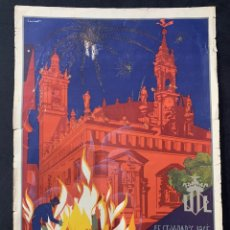 Coleccionismo de carteles: CARTEL LITOGRAFÍA FALLAS DE VALENCIA 1930 ORIGINAL. Lote 178060758