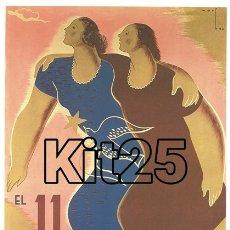 Coleccionismo de carteles: COMPANYA REVISTA DE LA DONA MARTÍ BAS BARCELONA PROPAGANDA REPUBLICANA GUERRA CIVIL ESPAÑOLA. Lote 178145937