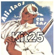 Coleccionismo de carteles: MILICIAS ARAGONESAS ALMA VALENCIA CARTEL DE PROPAGANDA ANARQUISTA GUERRA CIVIL ESPAÑOLA. Lote 178161343