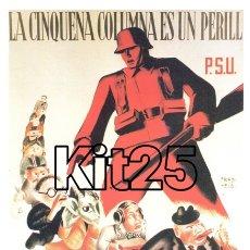 Coleccionismo de carteles: PSU PARTIDO SOCIALISTA UNIFICADO FRIEDFELD CARTEL DE PROPAGANDA REPUBLICANA GUERRA CIVIL ESPAÑOLA. Lote 178161488