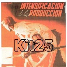 Coleccionismo de carteles: PCE 1º DE MAYO INTENSIFICACIÓN DE LA PRODUCCIÓN CARTEL DE PROPAGANDA REPUBLICANA GUERRA CIVIL ESPAÑA. Lote 178161645