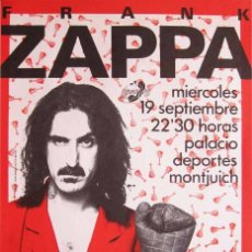 Coleccionismo de carteles: FRANK ZAPPA. CARTEL CONCIERTO BARCELONA 1984. Lote 178232041