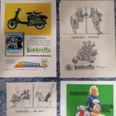 Coleccionismo de carteles: LAMBRETTA 4 LÁMINAS PUBLICIDAD AÑOS 60. Lote 178234271