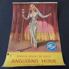 Coleccionismo de carteles: ANTIGUO CARTEL ORIGINAL PUBLICIDAD MARCONI. Lote 178294867