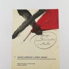 Coleccionismo de carteles: CARTEL GRUP INSTRUMENTAL CATALÀ PER TÀPIES 1977. Lote 178295580