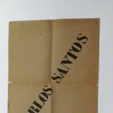 Coleccionismo de carteles: CARTEL PROGRAMA CARLES SANTOS JOHN CAGE 1966. Lote 178297912