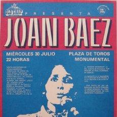 Coleccionismo de carteles: JOAN BAEZ. CARTEL CONCIERTO BARCELONA 1980 . Lote 178834636