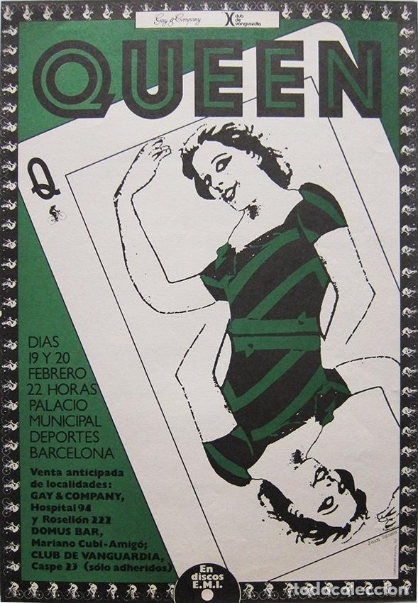 QUEEN. CARTEL CONCIERTO BARCELONA 1979 (Coleccionismo - Carteles Pequeño Formato)