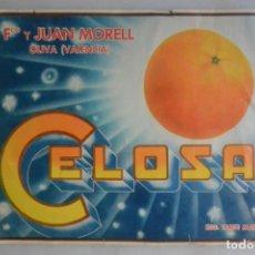 Coleccionismo de carteles: ETIQUETA DE NARANJAS CELOSA JUAN MORELL OLIVA VALENCIA. Lote 179217255