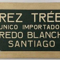 Coleccionismo de carteles: CARTEL PUBLICITARIO DE CARTON DURO. JEREZ TRÉBOL. UNICO IMPORTADOR. ALFREDO BLANCHARD SANTIAGO.. Lote 179228331