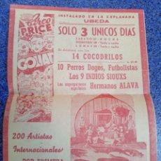 Coleccionismo de carteles: PUBLICIDAD CIRCO PRICE 1953. Lote 179389612