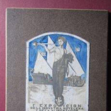 Coleccionismo de carteles: FRANCESC D'A. GALI. PEQUEÑA PUBLICIDAD RETOCADA A MANO EXPOSICIÓN DE LA INDUSTRIA HOTELERA... 1927. Lote 180184063