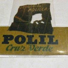 Coleccionismo de carteles: CARTEL TROQUELADO PUBLICIDAD POLIL CRUZ VERDE CONTRA LA POLILLA . EN PAPEL 30/ 15 CM . Lote 181324696