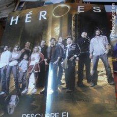 Coleccionismo de carteles: POSTER PUBLICITARIO SERIE HEROES - 55 X 43 CMS - SIN USAR - VED FOTOS - ENVIO GRATIS. Lote 181489916