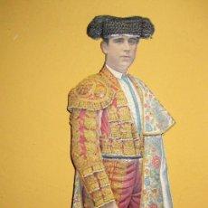 Coleccionismo de carteles: CARTEL TROQUELADO DISPLAY DE MOSTRADOR PARA PUBLICIDAD TORERO EN CARTON 25/9CM . Lote 181602453