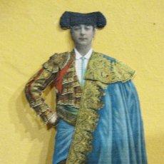 Coleccionismo de carteles: CARTEL TROQUELADO DISPLAY DE MOSTRADOR PARA PUBLICIDAD TORERO EN CARTON 25/9CM . Lote 181603202