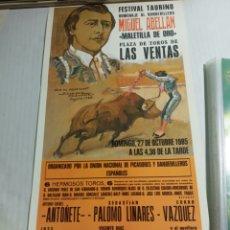 Coleccionismo de carteles: HOMENAJE A MIGUEL ABELLÁN. Lote 183438280