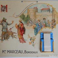 Coleccionismo de carteles: ANTIGUO CALENDARIO PERPETUO / MIN. MARCEAU BORDEAUX - BORDEAUX WAS PRESERVED FROM THE BARBARIANS BY. Lote 183456431