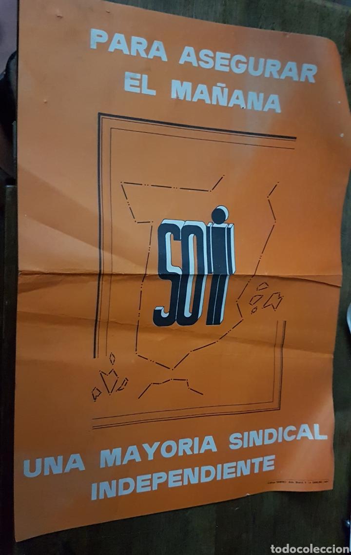 CARTEL SINDICATO SOI AÑOS 80 ZXY (Coleccionismo - Carteles Pequeño Formato)