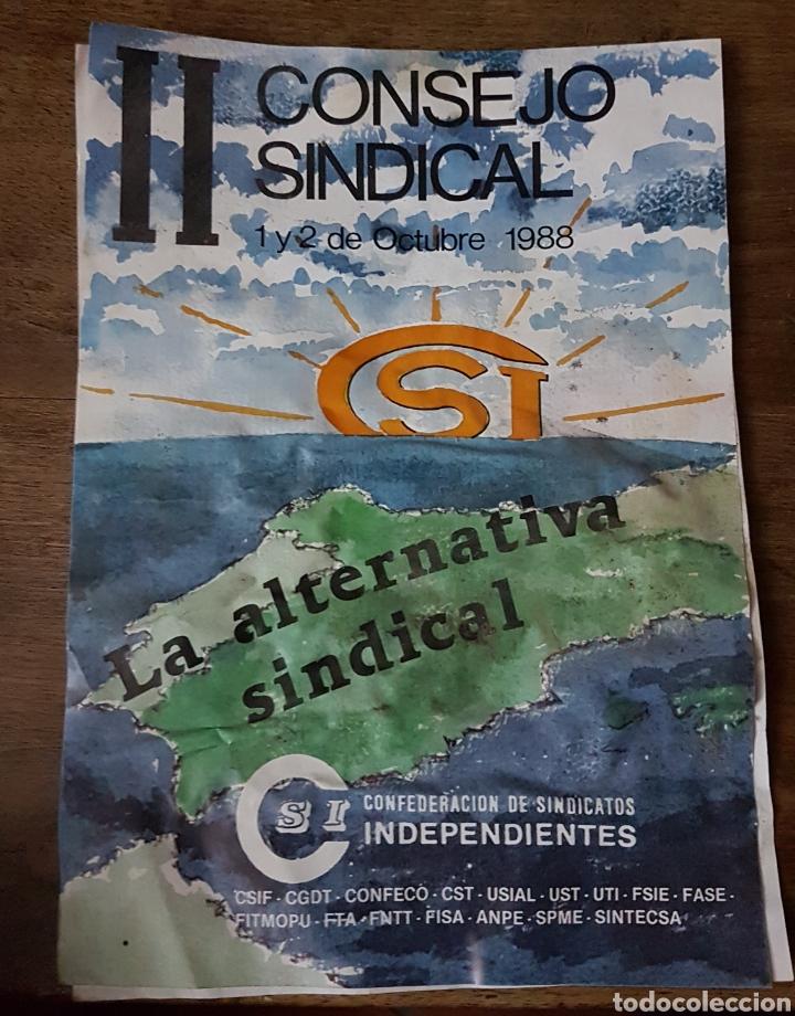 CARTEL SINDICAL 2 CONGRESO SOI 1988 ZXY (Coleccionismo - Carteles Pequeño Formato)