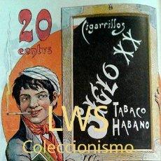 Coleccionismo de carteles: CARTELES PUBLICITARIOS TABACO PUBLICIDAD IMÁGENES CIGARROS PAPEL DE FUMAR MECHEROS CIGARRILLOS. Lote 184051402