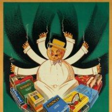 Coleccionismo de carteles: CARTELES PUBLICITARIOS TABACO PUBLICIDAD IMÁGENES CIGARROS PAPEL DE FUMAR MECHEROS CIGARRILLOS. Lote 184102038