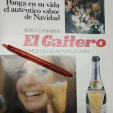 Coleccionismo de carteles: SIDRA CHAMPAN EL GAITERO FAMOSA EN EL MUNDO ENTERO.. Lote 184218720