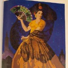 Colecionismo de cartazes: CARTEL SEMANA SANTA Y FERIA DE SEVILLA, AÑO 1943. REPRODUCCIÓN, LÁMINA ENMARCABLE. 22 X 32 CM. NUEVO. Lote 184698528