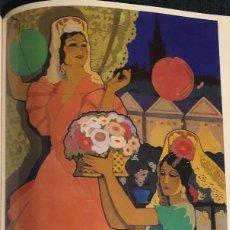 Colecionismo de cartazes: CARTEL SEMANA SANTA Y FERIA DE SEVILLA, AÑO 1952. REPRODUCCIÓN, LÁMINA ENMARCABLE. 22 X 32 CM. NUEVO. Lote 184702745