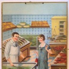 Colecionismo de cartazes: PESCADERIA . 1920-30 .. Lote 184766435