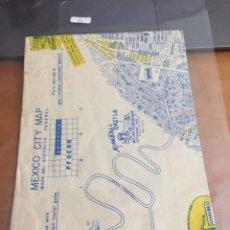 Colecionismo de cartazes: MAPA MEXICANO CITY. Lote 185910885