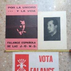 Coleccionismo de carteles: CARTELES DE FALANGE Y LITOGRAFIA DE PRIMO DE RIVERA. Lote 186293600