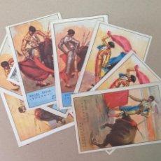 Coleccionismo de carteles: 8 LÁMINAS DE SUERTES TAURINAS 1947. Lote 186354178