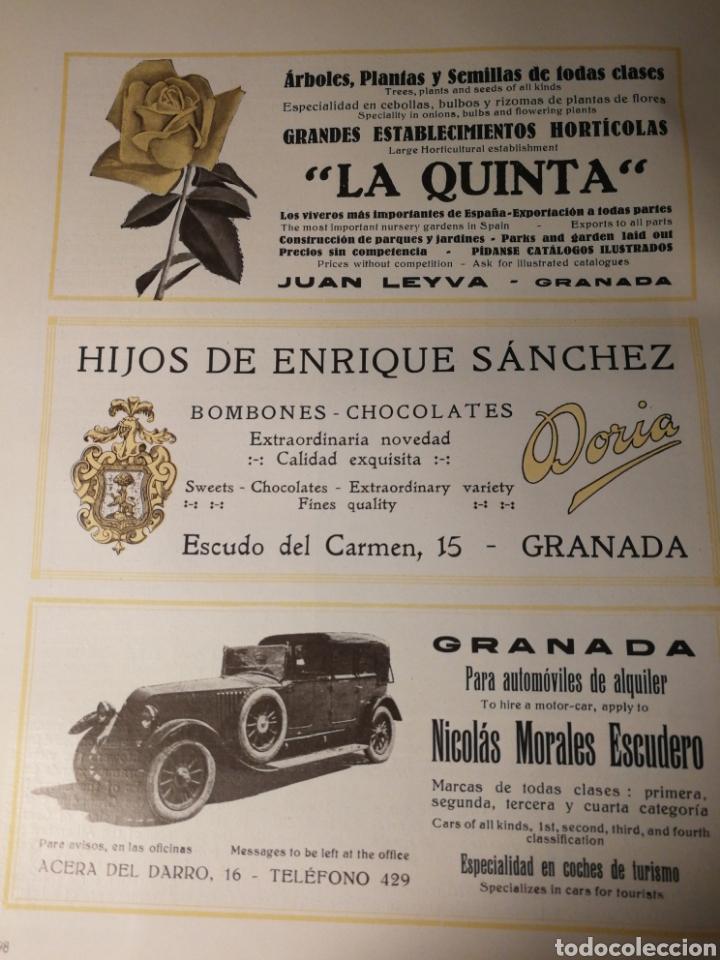 PUBLICIDAD DE NEGOCIOS DE GRANADA. AÑOS 20. ORIGINAL DE LIBRO. 25X20 CM (Coleccionismo - Carteles Pequeño Formato)