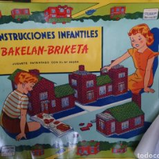 Coleccionismo de carteles: BAKELAN. BRIKETA. CONSTRUCCIONES INFANTILES. ANTIGUO CARTEL. AÑOS 50.. Lote 187185706