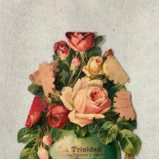 Coleccionismo de carteles: CARTEL TROQUELADO FÁBRICAS LA TRINIDAD. Lote 187203831