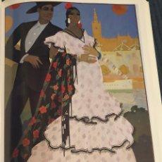 Coleccionismo de carteles: CARTEL SEMANA SANTA Y FERIA DE SEVILLA, AÑO 1936. REPRODUCCIÓN, LÁMINA ENMARCABLE. 22 X 32 CM. NUEVO. Lote 187488487
