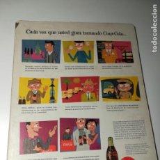 Coleccionismo de carteles: AFICHE EXPLICANDO PROCESO COCA-COLA, VIÑETAS, DURABOARD AÑOS 50, 36X26CMS . Lote 189177182