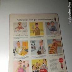 Coleccionismo de carteles: AFICHE EXPLICANDO PROCESO COCA-COLA, VIÑETAS, DURABOARD AÑOS 50, 36X26CMS . Lote 189177245