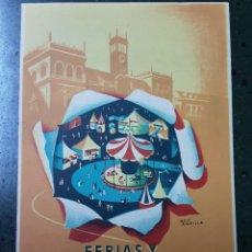 Coleccionismo de carteles: VALLADOLID , FERIAS Y FIESTAS SEPTIEMBRE 1951. Lote 189379017