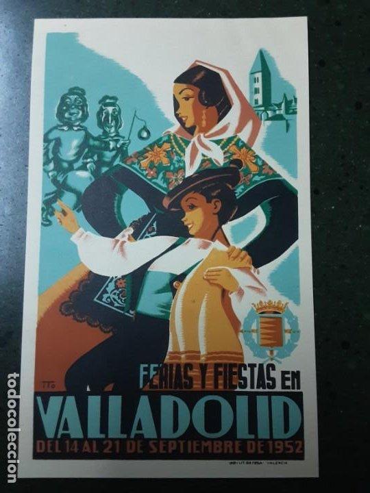 VALLADOLID , FERIAS Y FIESTAS SEPTIEMBRE 1952 (Coleccionismo - Carteles Pequeño Formato)