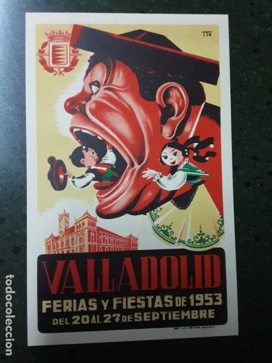VALLADOLID , FERIAS Y FIESTAS SEPTIEMBRE 1953 (Coleccionismo - Carteles Pequeño Formato)
