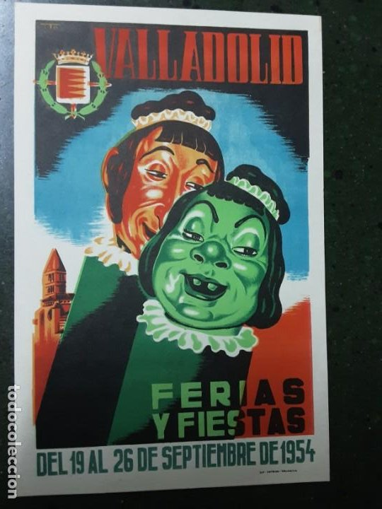 VALLADOLID , FERIAS Y FIESTAS SEPTIEMBRE 1954 (Coleccionismo - Carteles Pequeño Formato)