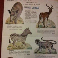Collectionnisme d'affiches: CARTEL CONFECCIONES REUNIDAS S.A. ANUNCIA LA NUEVA CAMISA DE SPORT. FAMA JUNGLA. Lote 189756827